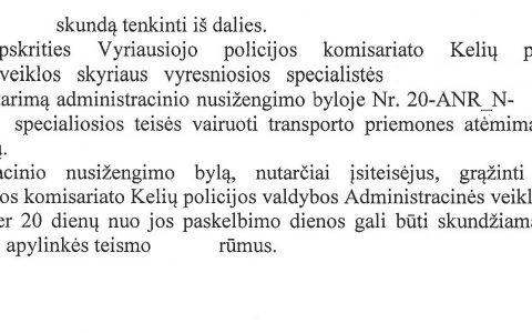 Teisių atėmimo terminas (už neblaivumą) sutrumpintas nuo 12 iki 9 mėn. (sprendimas peržiūrėtas apeliacine tvarka ir paliktas nepakeistas)
