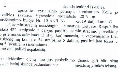 Teisių atėmimo terminas (už neblaivumą) sutrumpintas nuo 12 iki 5 mėn.