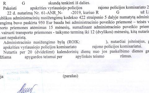 Teisių atėmimo terminas (už neblaivumą) sutrumpintas nuo 15 iki 12 mėn.