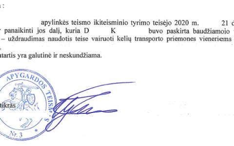 Teisių atėmimo terminas 12-kai mėn. už eismo dalyvio sužalojimą (būnant blaiviam) visiškai panaikintas.